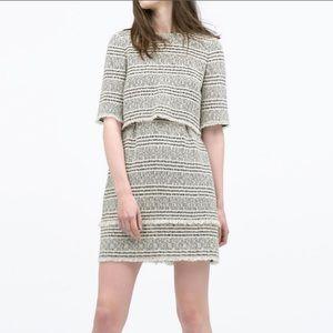 Zara printed layer dress